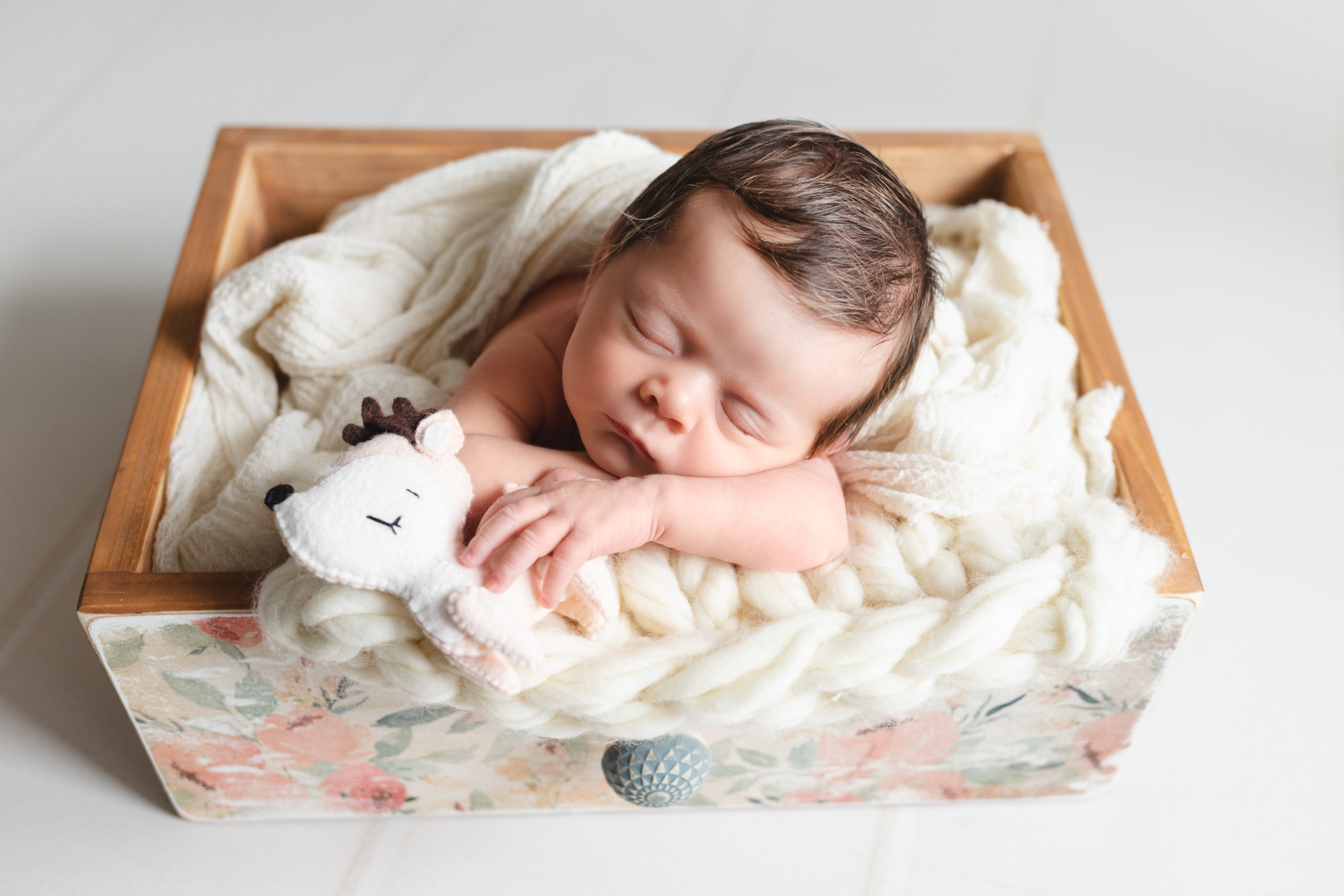 photo nouveau-né bébé tiroir homeostasie photographie Liège